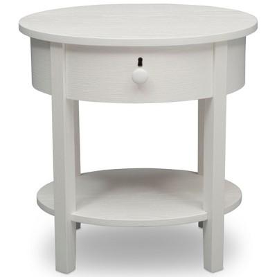 Delta Children Farmhouse Nightstand - Textured White