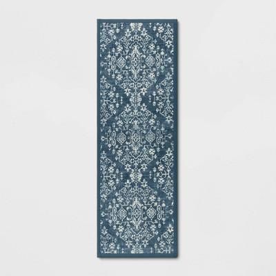 Vintage Print Comfort Rug Blue - Threshold™