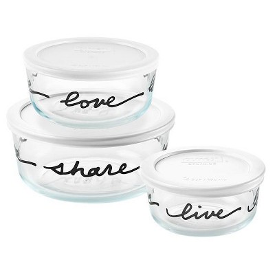 Pyrex 6pc Glass Food Storage Set