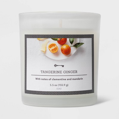 5.5oz Glass Jar Tangerine and Ginger Candle - Threshold™