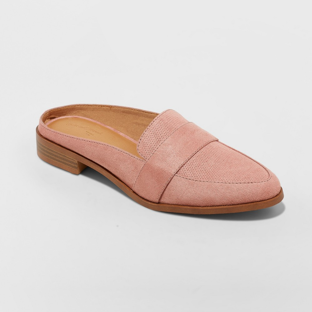 Women's Amber Backless Loafer Mules - Universal Thread Blush 11