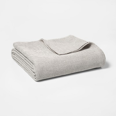 King Waffle Weave Bed Blanket Gray - Threshold™