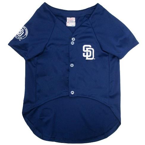 pretty nice 70b49 53932 San Diego Padres Pets First Pet Baseball Jersey - Navy XS