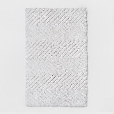 20 x32  Herringbone Accent Bath Rug Beige Linen - Threshold™