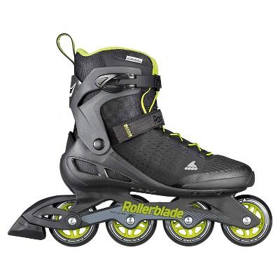 Rollerblade 079670001A1-7 Men's Adult Fitness Zetrablade Elite Performance Adjustable Secure Fit Inline Skates, Size 7, Black and Lime Green