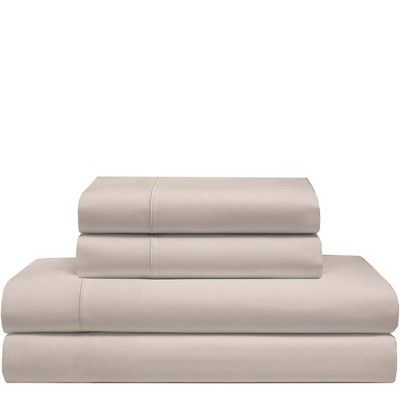 Full 525 Thread Count Solid Cooling Cotton Sheet Set Cafe - Elite Home Products