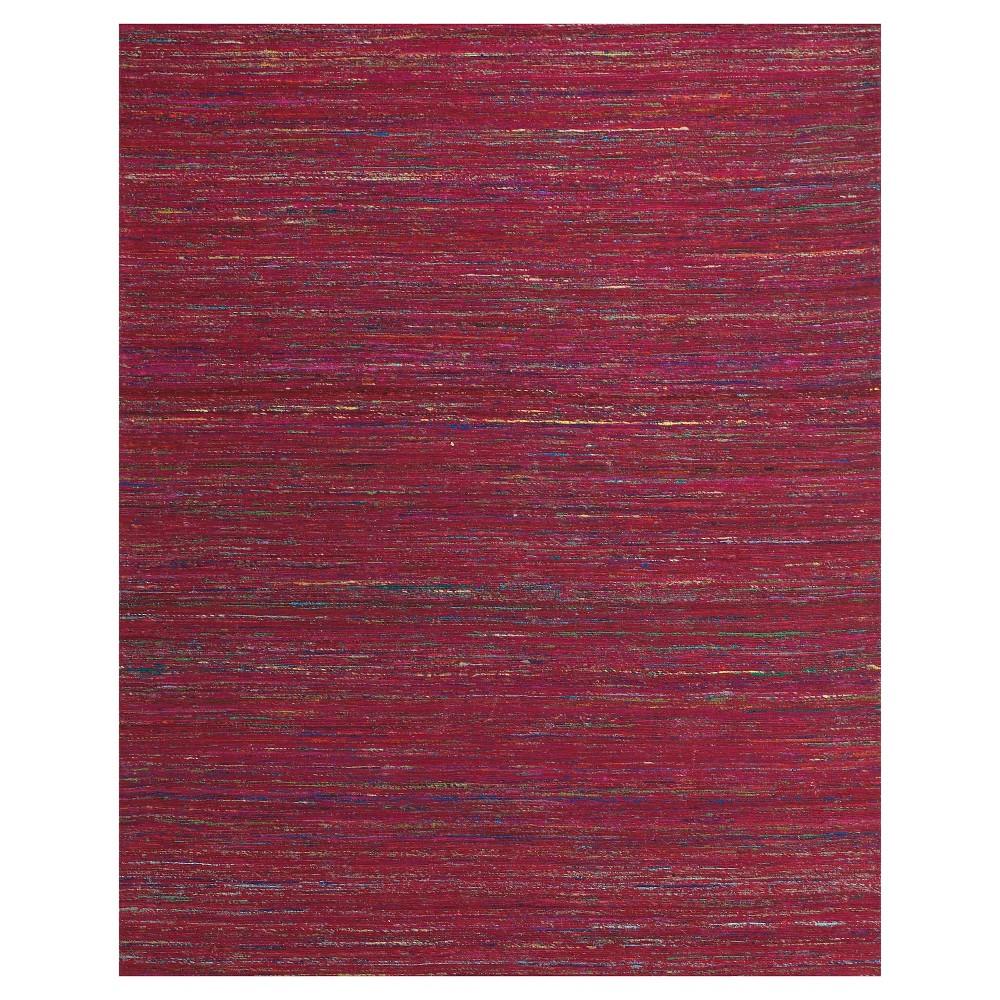 Fuchsia (Pink) Stripe Woven Area Rug - (8'X11') - Room Envy
