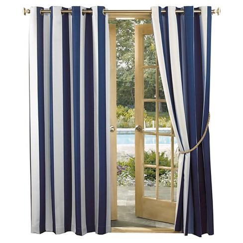 Dunham Nautical Stripe Indoor Outdoor Uv Resistant Curtain Panel