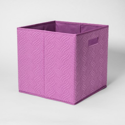 Fabric Cube Storage Bin Violet - Pillowfort™