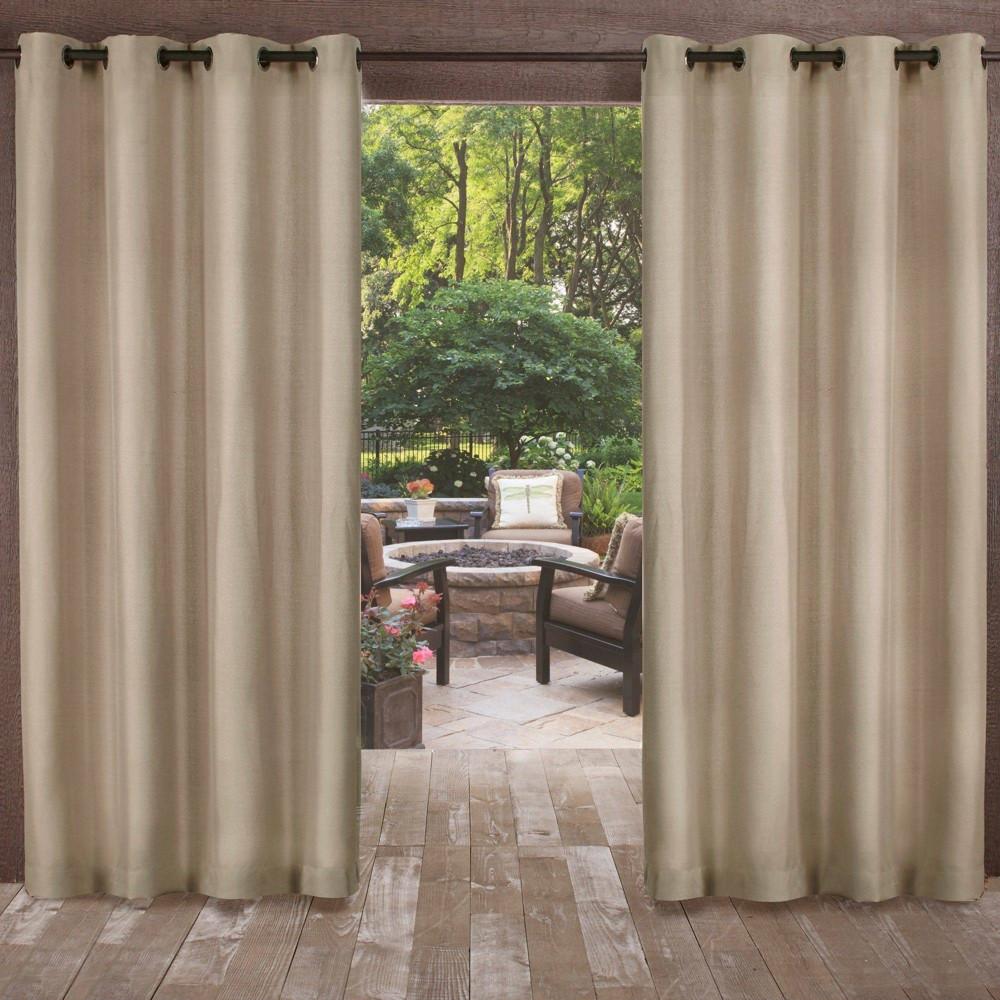 120 34 X54 34 Biscayne Grommet Top Light Filtering Window Curtain Panels Brown Exclusive Home