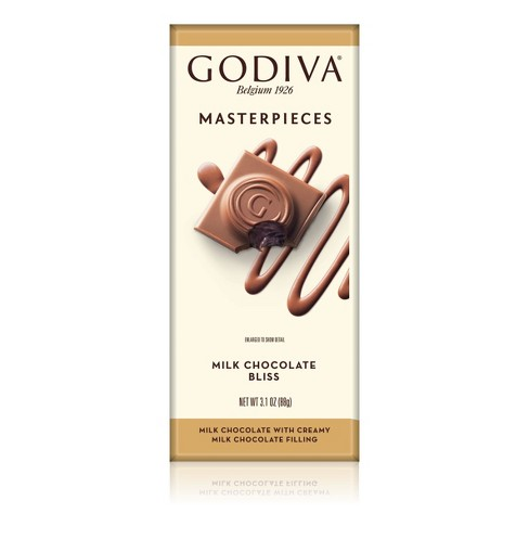 Godiva Masterpieces Milk Chocolate Bliss Chocolate Bar - 3.1oz - image 1 of 1