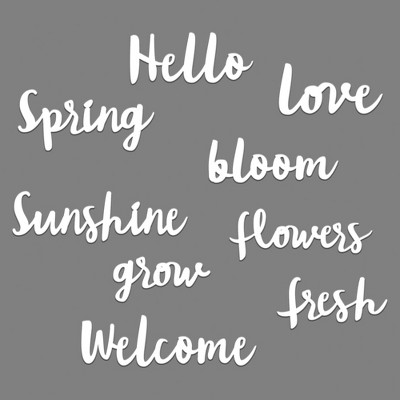 Spring Word Pack Wall Decor White - Room Essentials™