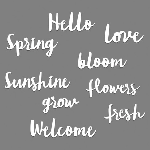 Spring Word Pack Wall Decor White Room Essentials
