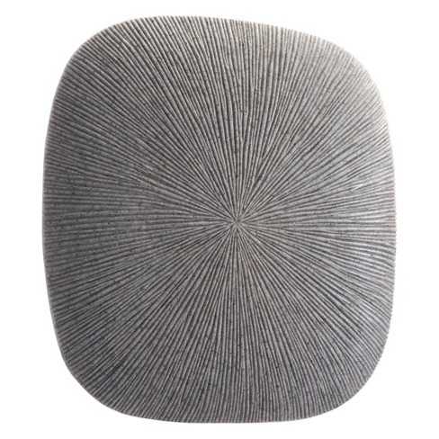 "ZM Home 14"" Textured Square Wall Sculpture Light Gray - image 1 of 3"
