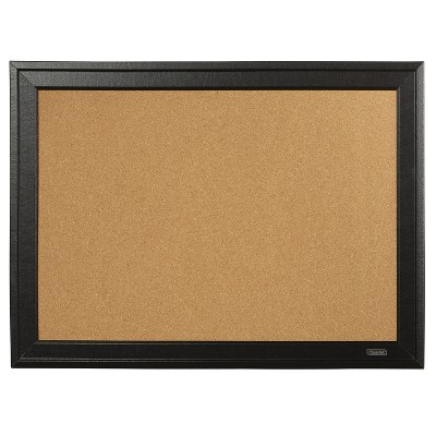 Quartet Cork Bulletin Board Black Frame 23 x 79281