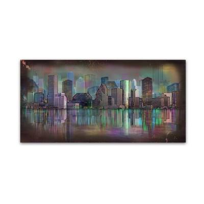 'Houston' by Ellicia Amando Ready to Hang Canvas Wall Art