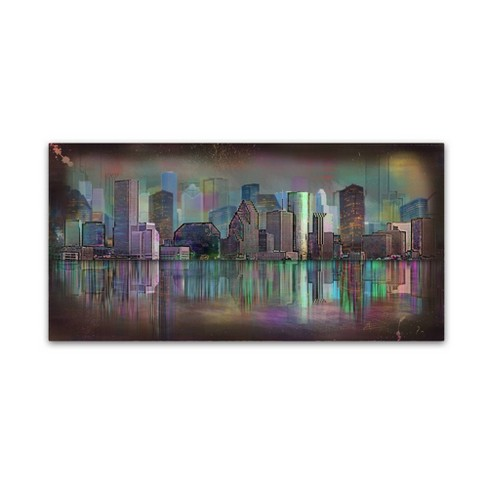 "24"" x 47"" Houston by Ellicia Amando - Trademark Fine Art - image 1 of 4"