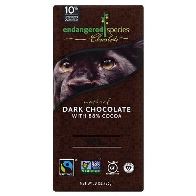 Endangered Species Chocolate Natural Dark Chocolate - 3oz