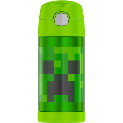 Thermos Minecraft 12oz FUNtainer Water Bottle - Green - image 1 of 4