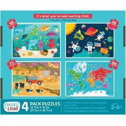 Chuckle & Roar 4pk Jigsaw Puzzles - 48, 72,100pcs