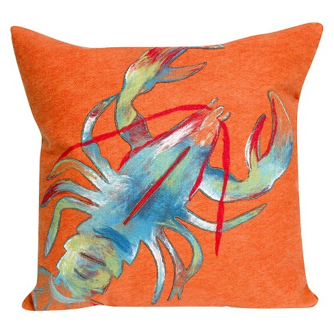 "Orange Smoothie In/Out Throw Pillow (20""x20"") - Liora Manne - image 1 of 1"