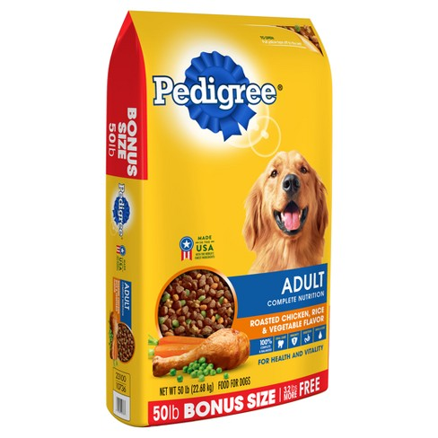 Pedigree Complete Nutrition Roasted En Rice Vegetable Flavor Dry Dog Food 50 Lbs Target