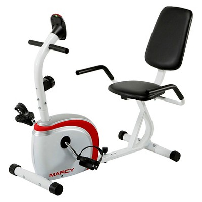 Marcy Recumbent Magnetic Exercise Bike with Pulse Monitor