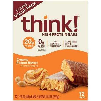 think! High Protein Creamy Peanut Butter Bars - 12ct