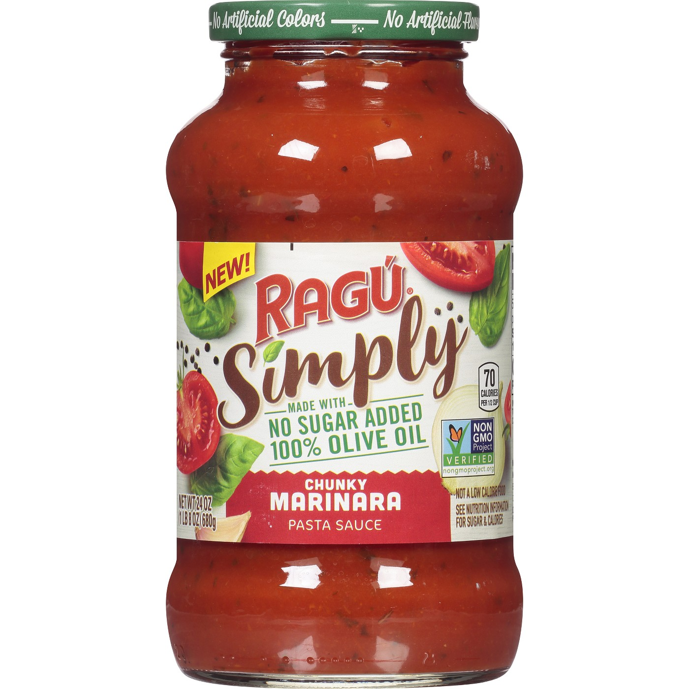 Ragu Simply Chunky Marinara Pasta Sauce - 24oz - image 1 of 4