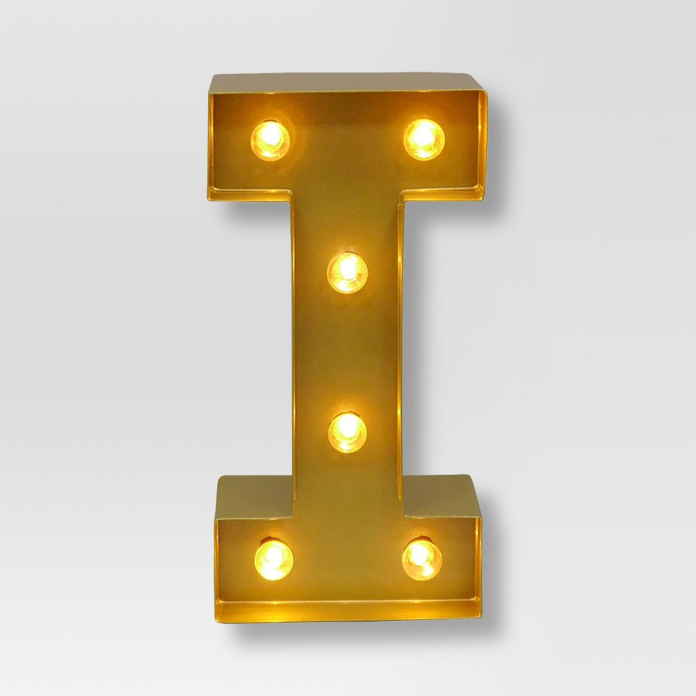 Marquee Letter Light Brass I - Threshold, Gold