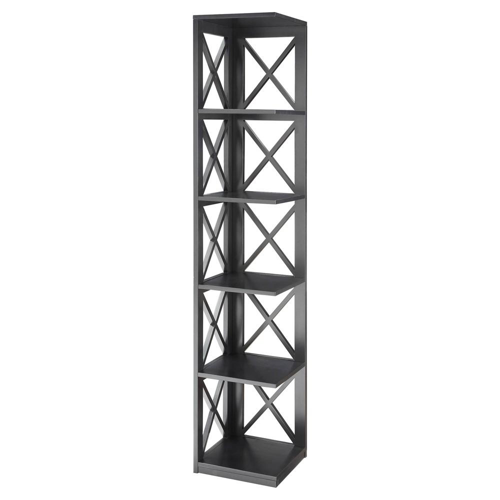 Decorative Bookshelf 63.75 Black - Convenience Concepts