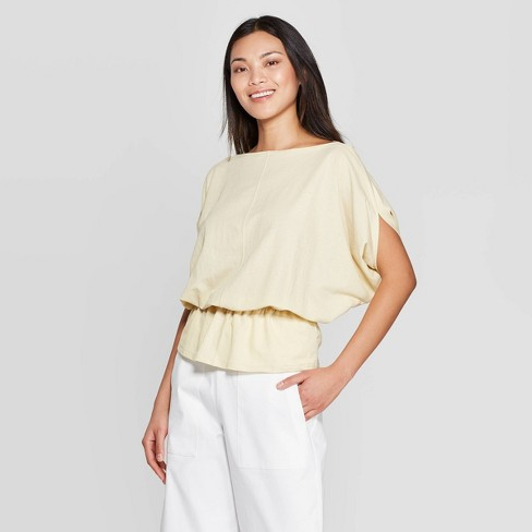 Women's Batwing Elbow Sleeve Boat Neck Top - Prologue™ - image 1 of 3