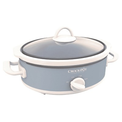 Crock-Pot 2.5-Quart Miniature Heavy-Duty 3 Heat Setting Casserole Unique Oval-Shaped Slow Cooker Crock Pot, Red