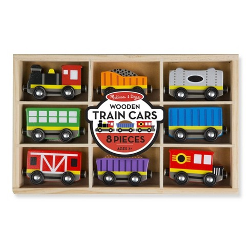 Melissa & Doug Wooden Train Cars - image 1 of 4