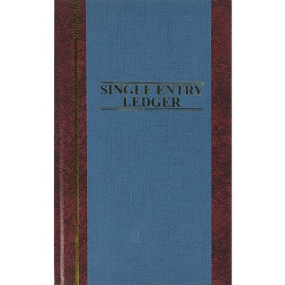 """Wilson Jones Account Book S.E. Ledger-Ruled 150 Pages 11-3/4""""x7-1/4"""" Blue S30015SEL"""