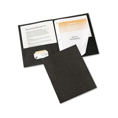 """Avery Two-Pocket Folder Prong Fastener Letter 1/2"""" Capacity Black 25/Box 47978"""