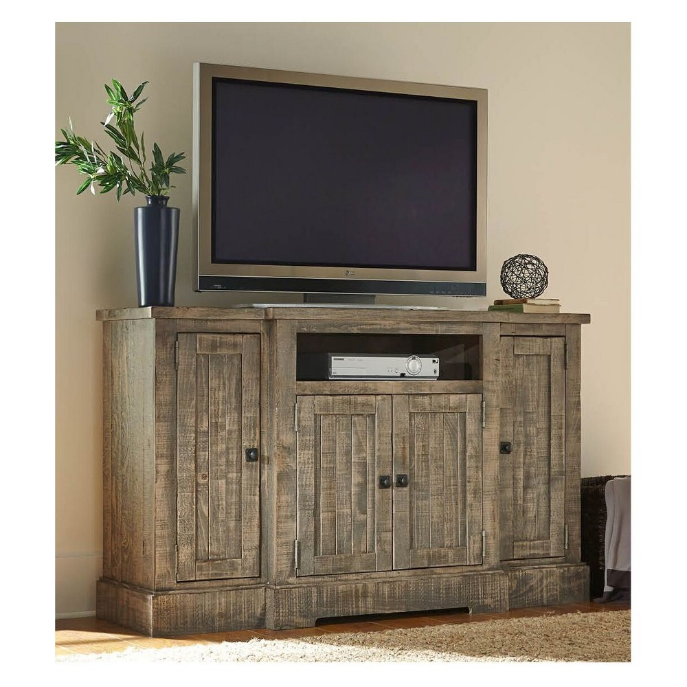 "Image of ""60"""" Meadow TV Console Weathered Gray - Progressive, Brown Gray"""