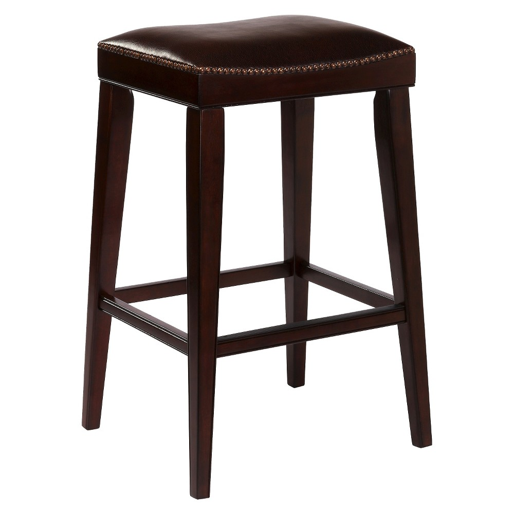26 Riverton Counter Stool Wood/Cherry (Red) - Hillsdale Furniture