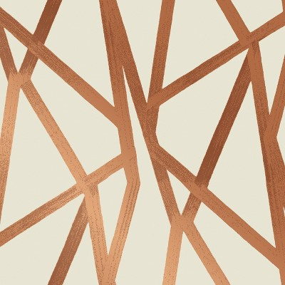 Intersections Self-Adhesive Removable Wallpaper By Genevieve Gorder Bronze