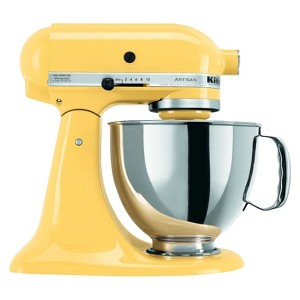 KitchenAid Artisan Series 5 Quart Tilt-Head Stand Mixer- Ksm150, Majestic Yellow