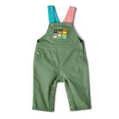 Baby Adaptive Kids-Print Overalls - Christian Robinson x Target Green
