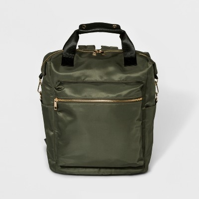 Square Nylon Backpack - A New Day™ Olive