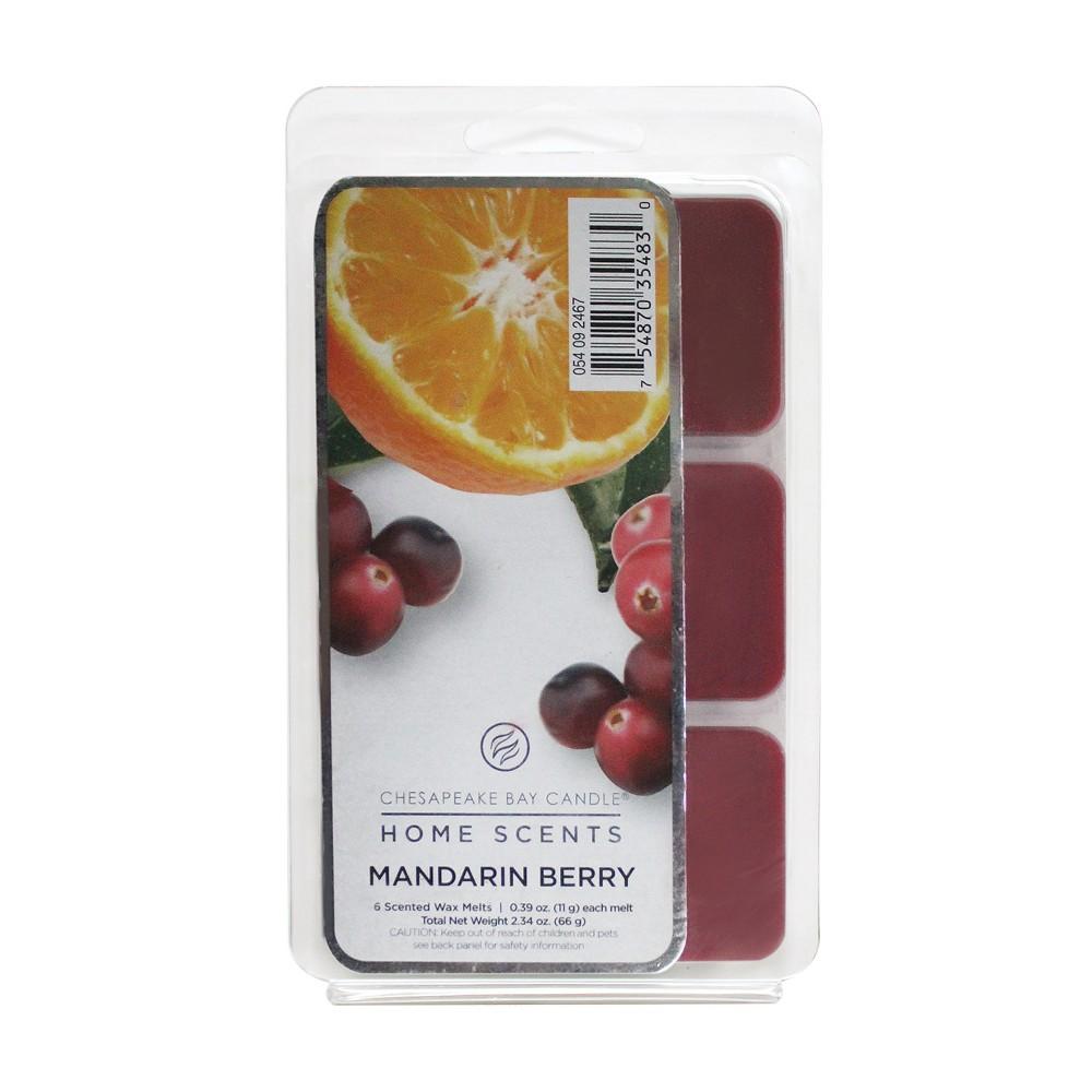 Wax Melts 6pk Mandarin Berry 0.39oz - Chesapeake Bay Candle, Dark Red