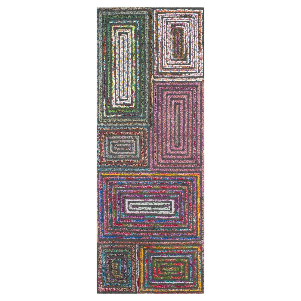 Charcoal Abstract Tufted Runner - (2'3X8' Runner) - Safavieh, Gray