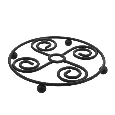 Spectrum Diversified Scroll Trivet - Black - Spectrum Diversified Designs