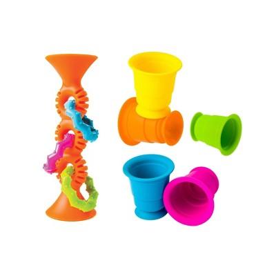 Fat Brain Toys Orange Loopz 5 Suction Kupz