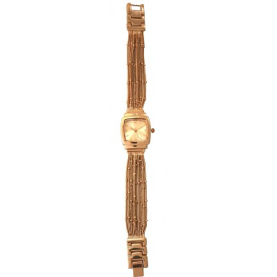 Olivia Pratt Square Face Snake Chain Bracelet Watch