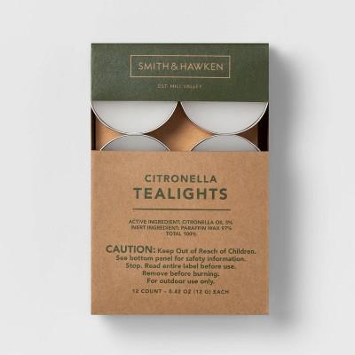 12pk Citronella Tea Light Candles - Smith & Hawken™