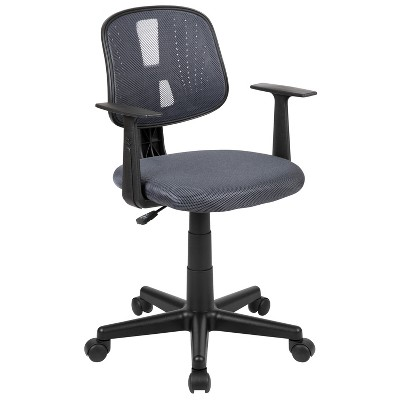 Flash Furniture Flash Fundamentals Mid-Back Mesh Swivel Task Office Chair with Pivot Back and Arms, BIFMA Certified