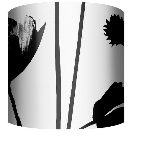 """PTM Images 10-0124 Flower Silhouette 10"""" Tall x 12"""" Wide Cylinder Fabric Lamp Shade - image 1 of 1"""